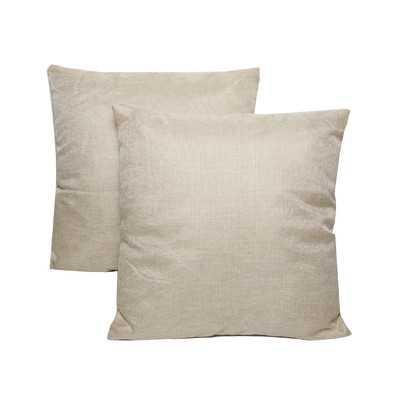 """Wayfair Basics 18"""" Throw Pillow - Set of 2 - Poly Fill - Cream - Wayfair"""