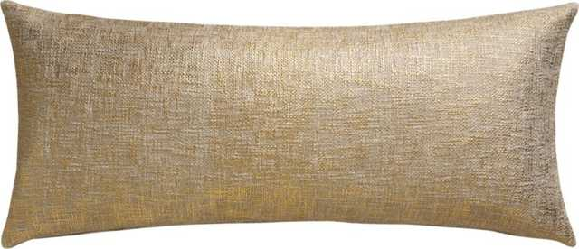 "Glitterati gold 36""x16"" pillow with down-alternative insert - CB2"
