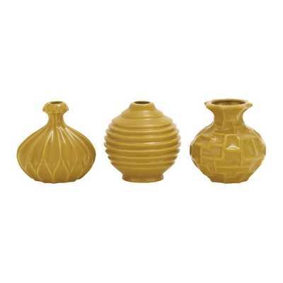 Sawyer 3 Piece Table Vase Set - Brownish Yellow - Wayfair