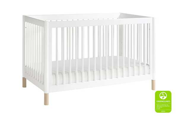 4-in-1 Convertible Crib with Toddler Bed Conversion Kit - White with Washed Natural - Babyletto