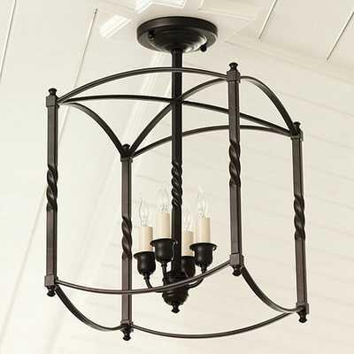 Carriage House Chandeliers - Dark Bronze - Large - Ballard Designs
