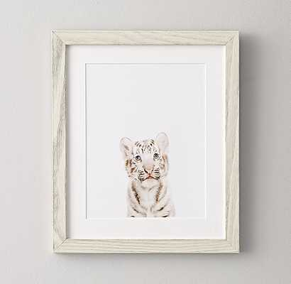 "BABY ANIMAL PORTRAIT - TIGER - 16""W x 19""H - White Frame - RH Baby & Child"