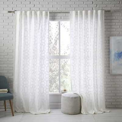 Sheer Lattice Curtain - West Elm