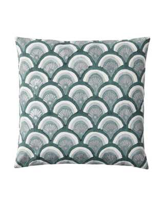 Kyoto Pillow Covers - Jade -20'' x 20''- insert not included - Serena and Lily