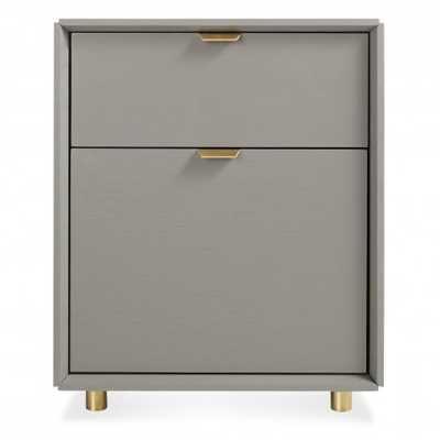Dang File Pedestal  - Risk - Averse Grey - BluDot