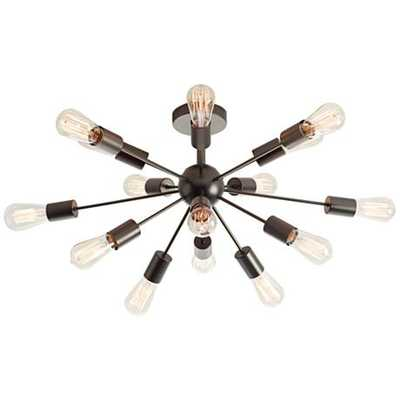 "Possini Euro Hemingson 28"" Wide Edison Bronze Ceiling Light - Lamps Plus"
