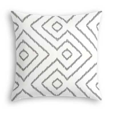 Gray & White Optical Diamond Custom Throw Pillow - Insert sold separately - Domino