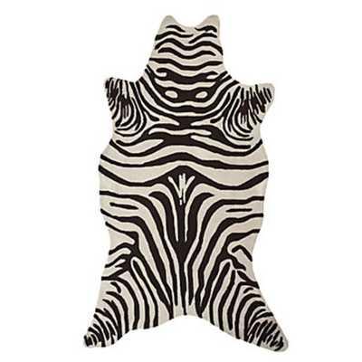 Zebra Rug - Chocolate Brown - Z Gallerie