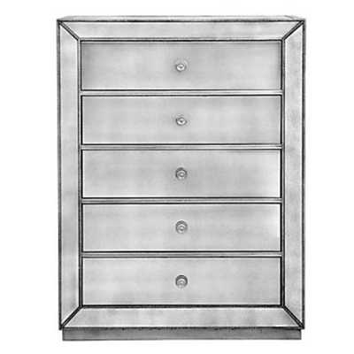 Omni Mirrored 5 Drawer Chest - Z Gallerie