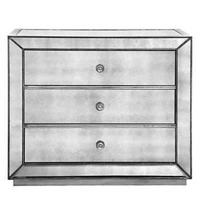 Omni Mirrored 3 Drawer Hall Chest - Z Gallerie