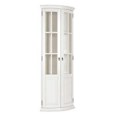 Full Chilton Curved Corner Cabinet -Rubbed white - Ballard Designs