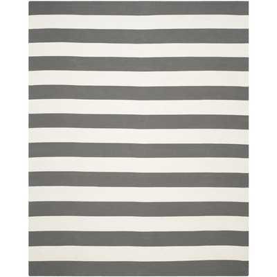 Hand-woven Montauk Grey/ White Cotton Rug (9' x 12') - Overstock