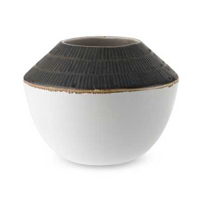 Beige and Brown Vase - Williams Sonoma