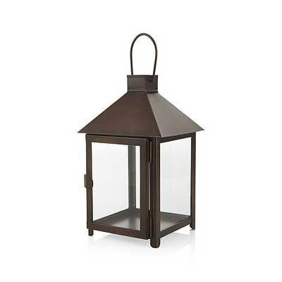 Knox Bronze Metal Lantern -  Small - Crate and Barrel