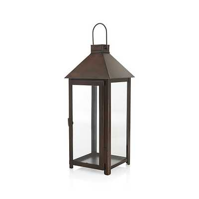 Knox  Bronze Metal Lantern - Large - Crate and Barrel