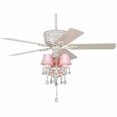 Casa Deville™ Pretty in Pink Pull Chain Ceiling Fan - Lamps Plus