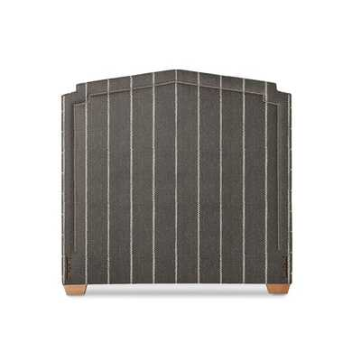 Alta Headboard with Nailheads [fabric : Pencil Stripe Linen Fabric - Steel] - Serena and Lily