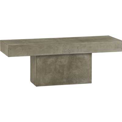Fuze grey bench - CB2