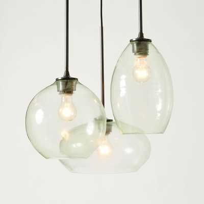 Glass Triplet Chandelier - West Elm