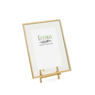 "Gold Frame Easel Frame - 5"" x 7"" - Alma Decor"