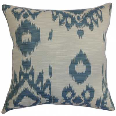 "Gaera Ikat Pillow - 20"" x 20"" - Down insert - Linen & Seam"