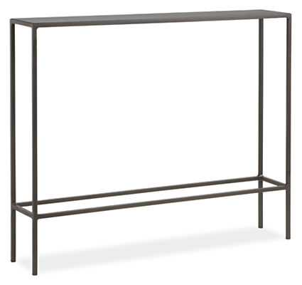 """36""""W Slim Console Tables in Natural Steel - Room & Board"""