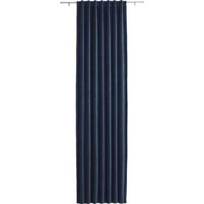 "Velvet navy curtain panel  - 96"" - CB2"