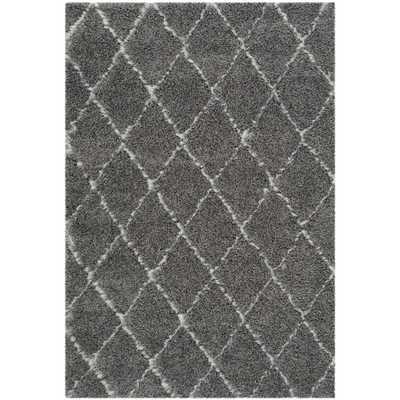 Safavieh Moroccan Shag  Rug - Grey/ Ivory - Overstock