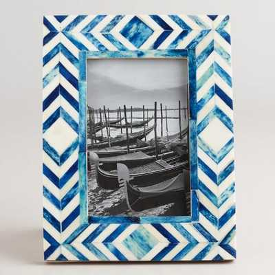 Blue and Natural Tribal Bone London Frame - World Market/Cost Plus