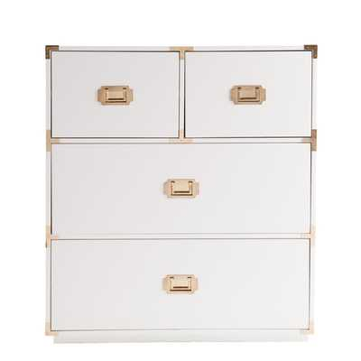 LOREN 4 DRAWER CAMPAIGN CHEST - Dwell Studio