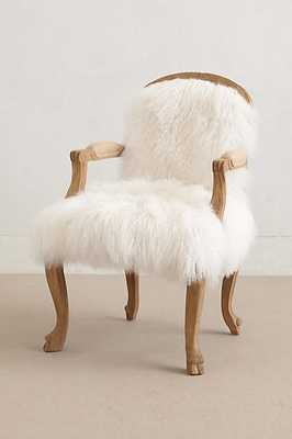 Luxe Fur Occasional Chair - Anthropologie