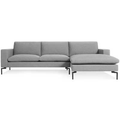 New Standard Sofa with Right Arm Chaise - Spitzer Grey / Black - BluDot