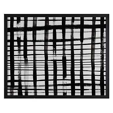 "Rectangular Black and White - 50"" x 40"" - Black Fraem - No Mat - Z Gallerie"