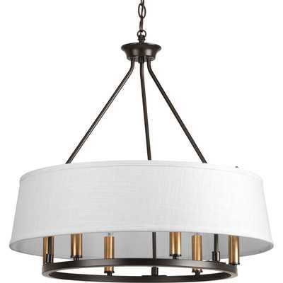 Cherish 6 Light Drum Chandelier by Progress Lighting - Antique bronze - Home Depot