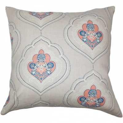 "Aafje Floral Pillow - 18"" x 18"" - Down Insert - Linen & Seam"