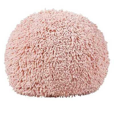 Pink Shaggy Pouf Seat - Land of Nod