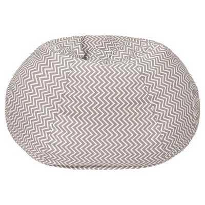 Cosmo ZigZag Print Bean Bag Grey (XL) - Target