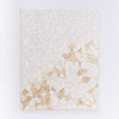 """Capiz Wall Art - Crystal Formation - 32"""" x 42"""" - Unframed - West Elm"""