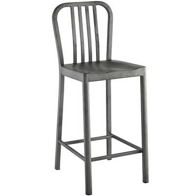 Clink Counter Stool in Silver - Modway Furniture