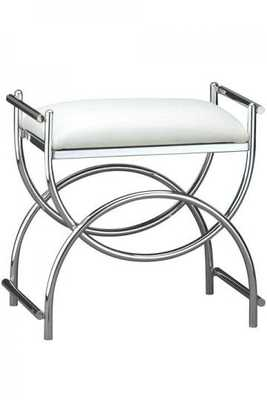 Curve Chrome Vanity Bench - Home Decorators