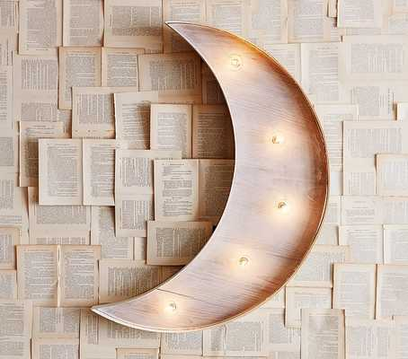 Marquee Light Up Moon - Pottery Barn Kids
