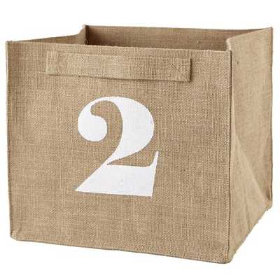 2 Store By Numbers Cube Bin - Land of Nod