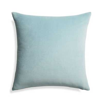 "Trevino Aqua 20"" Pillow with Down-Alternative Insert - Crate and Barrel"