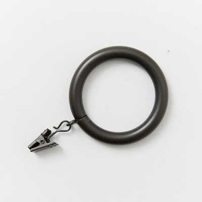 Round Metal Curtain Rings - Oversized - Set of 7. - West Elm