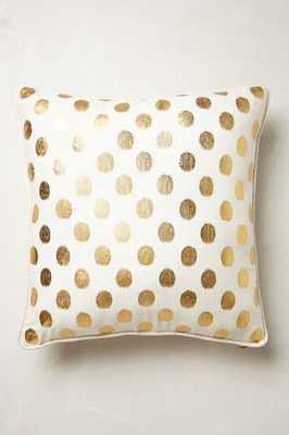 "Luminous Dots Pillow, Gold - 18"" x 18"" - Polyfill - Anthropologie"
