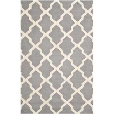 Safavieh Handmade Moroccan Cambridge Silver Wool Rug - 6' x 9' - Overstock