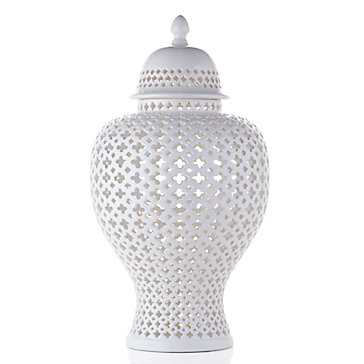 Ceramic Filigree Jar - Z Gallerie