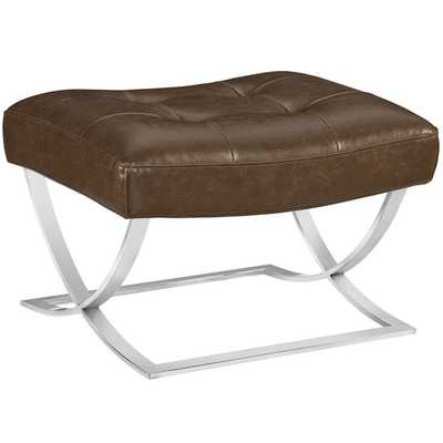 Slope Ottoman - Brown - Modway Furniture