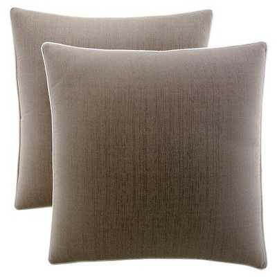Brown Pillow Sham (Euro) - Set of 2 - Target