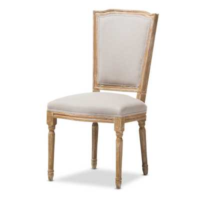 BAXTON STUDIO CADENCIA FRENCH UPHOLSTERED DINING SIDE CHAIR - Lark Interiors